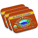 St. Claire's Organics® Ginger Pastilles, 1.5 oz Tin (Bundle of 3)