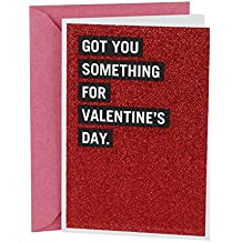 Hallmark Shoebox Valentine's Day Greeting Card (Red Glitter)