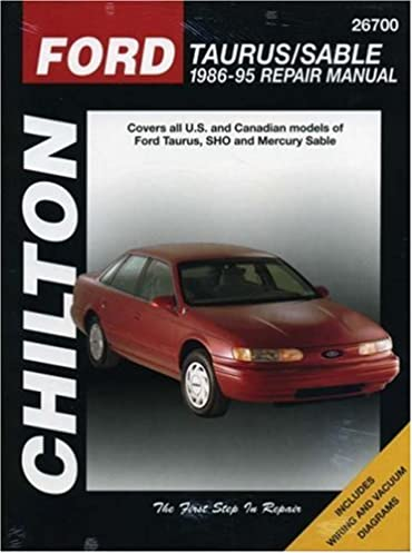 ford taurus and sable 1986 95 chilton total car care series rh amazon com 1995 ford taurus owners manual pdf 2011 Ford Taurus Owner Manual
