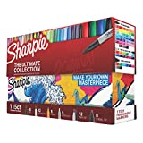 Sharpie Permanent Markers Ultimate Collection, Assorted Tips and Colors, 115 Count