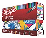 Dare to unleash the ultimate in vividly creative marking with this collector's edition of 115 Sharpie Permanent Markers. Bold and permanent to the core, your Sharpie marker set includes 40 fine, 42 ultra fine, 8 chisel and 12 twin tip markers...