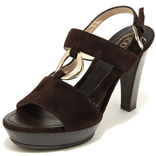 15788 sandalo marrone TODS scarpe donna shoes women brown testa di moro