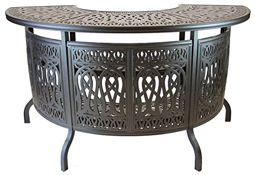theWorldofpatio Elizabeth Cast Aluminum Powder Coated Party Bar Table - Antique Bronze