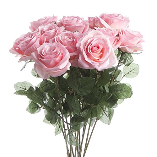 UPC 761254116557, Factory Direct Craft® Group of 12 Individual Long Stem Pink Artificial Roses for Arranging and Crafting