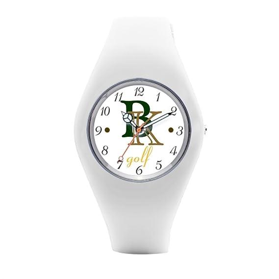 A añadir nombre mujeres deporte relojes personalizados para mujer de goma reloj: Amazon.es: Relojes