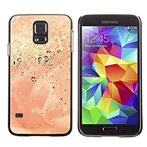 Paccase / SLIM PC / Aliminium Casa Carcasa Funda Case Cover para - Gold Dust Glitter Rose Bling - Samsung Galaxy S5 SM-G900