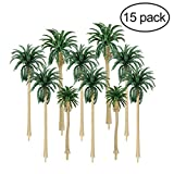 mini palm tree - NUOLUX Model Tree 15Pcs 5 Size Scenery Model Coconut Palm Trees HO O N Z Scale