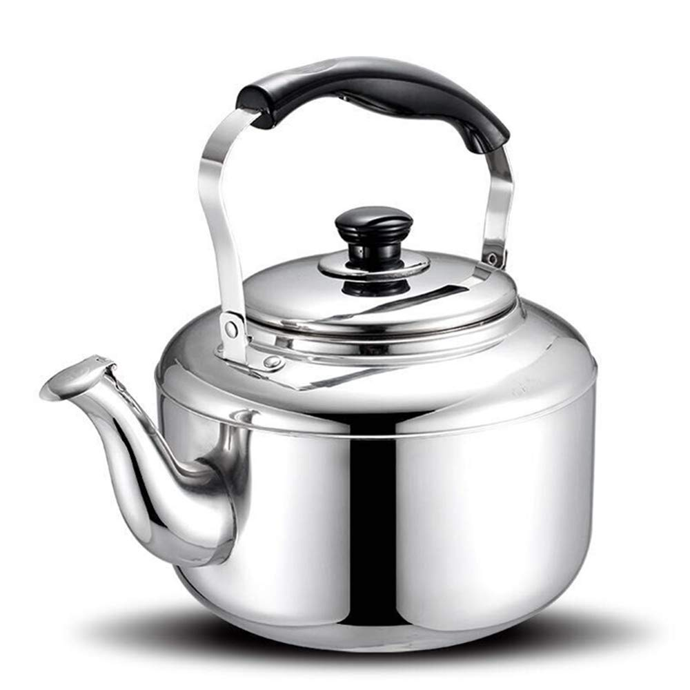 Extra Sturdy Stainless Steel Whistling Tea Kettle for Stovetop Induction Cooker, 10 Quart
