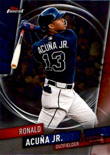 (2019 Finest Baseball #33 Ronald Acuna Jr. Atlanta Braves Official MLB Trading Card From Topps)