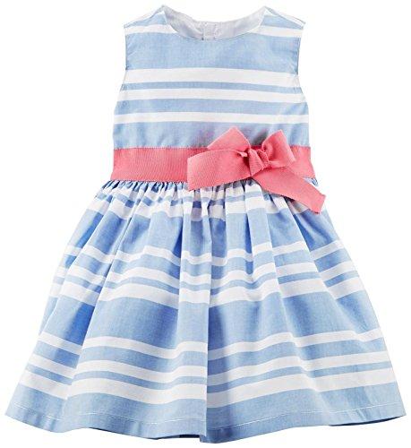 Carter's Baby Girls' Dress 120g133, Blue, 3M