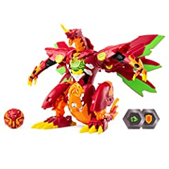 The most powerful Bakugan in the universe has arrived: Dragonoid Maximus! Standing at 8 inches tall, this ultra-powerful Bakugan dragon figure roars to life with an epic transformation, lights, and sounds. Dragonoid Maximus comes packed with ...