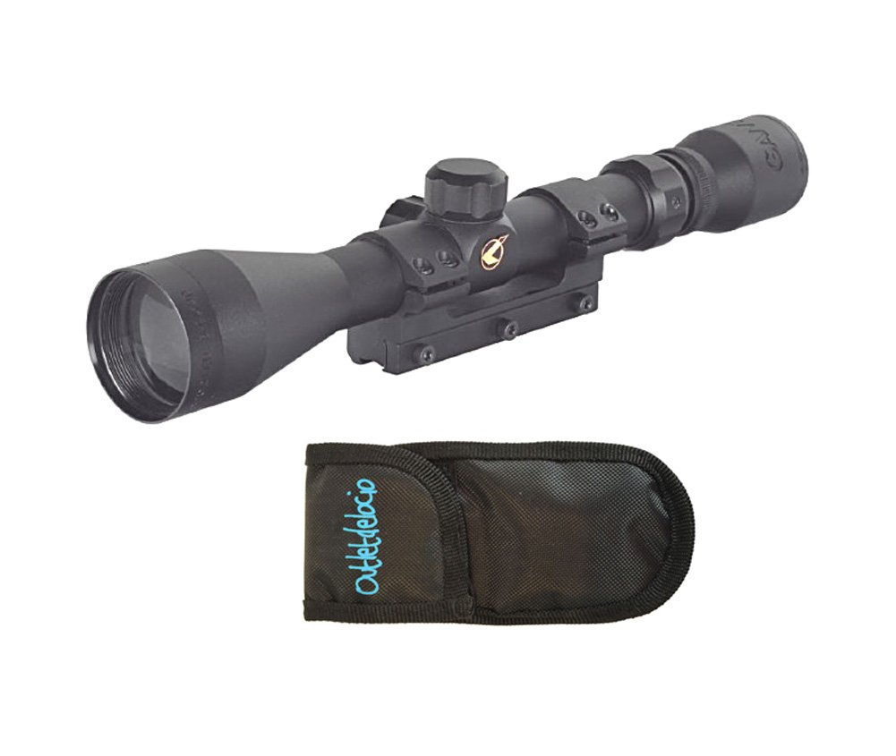 Visor Gamo. Mira telescópica 3-9x40 con zoom + funda multiusos. Especial para tiro deportivo. 6588/23054