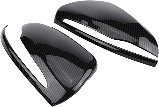 Cuque Rearview Mirror Covers 1 Pair Carbon Fiber Rearview Mirror Housing Cover for C//E//GLC//S Class W205 W213 X253 W222 ABS Left /& Right Rearview Mirror Protector Cap Left Hand Drive