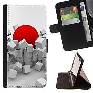 For LG G4 Case , Red Japón Resumen Domingo Profundo- la tarjeta de Crédito Slots PU Funda de cuero Monedero caso cubierta de piel