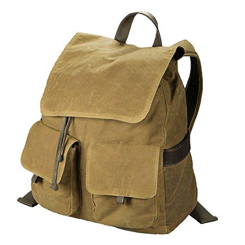 NEW Carolina Sewn Camel Brown Canvas Rucksack Backpack/Carry-On Bag by Carolina Sewn