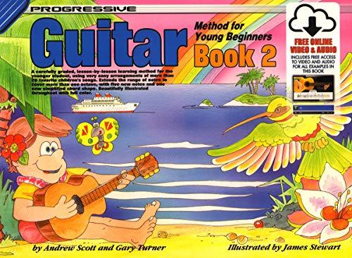 18323 - Progressive Guitar Method for Young Beginners Book 2 - Book/Online Video & Audio (Progressive Young Beginners)