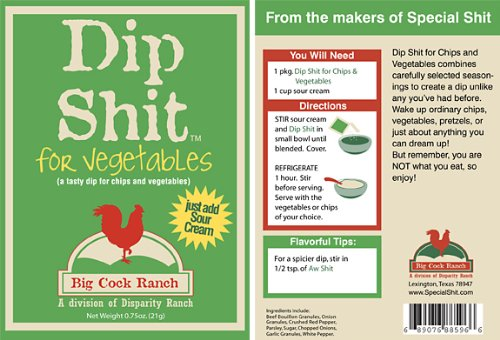 Price comparison product image Dip Shit .75oz Pouch (Pack of 6) (Chip and Vegetable Dip)
