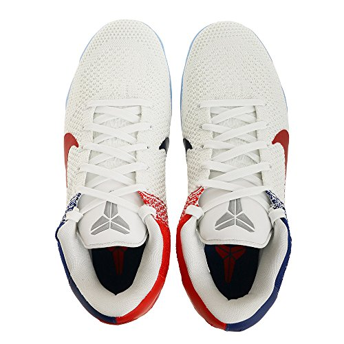Nike Mens Kobe Xi Elite Low, White / University Red-deep Royal Blue, 13 M Us