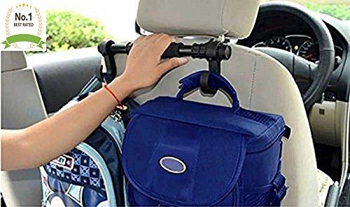 LavoHome #1 Universal Premium Car Truck Headrest Hanger Storage Hooks - Purse Handbag Grocery Bag Holder Hook Keeps Car Clean - Must Have -