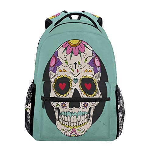 Joke Skull Backpack School Bookbag Travel Shoulder Laptop Bag for Womens Mens