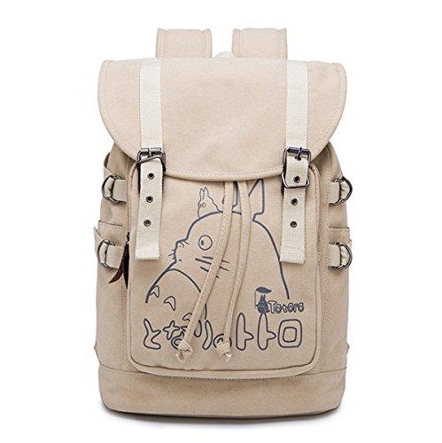 School Canvas 3 Women Festival Totoro Birthday Gift Bag Backpack Teens Student Men Totoro f6qYw6I