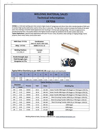 ER70S-6 X 5//32 TIG 1 lb Tube Mild Steel Welding Wire Rods Blue Demon