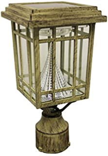 Amazon.com : Solar Lamp Post Light : Outdoor Post Lights : Patio ...:Gama Sonic Prairie Solar LED Light Fixture, Pole/Post/Wall Mount Kit,,Lighting
