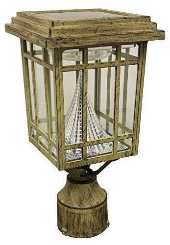 Led 3 Light Outdoor Post Lantern - 7