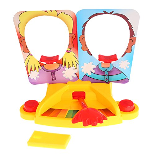 Vegan Prank Funny Double Person Toy Cake Cream Pie in The Face Anti Stress Toy for - Double Face Toy
