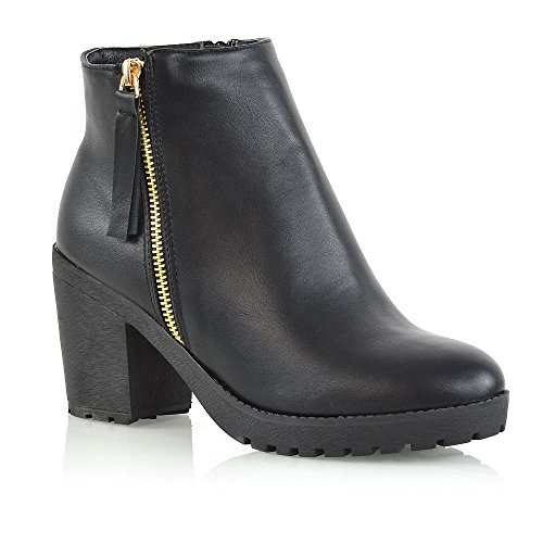 Leather Biker Boots Ladies - 2