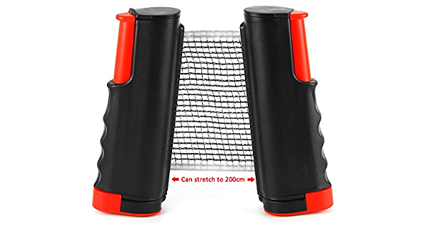 Retractable Table Tennis Net Ping Pong Replacement Net Rack Portable