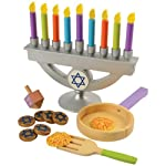 The KidKraft Chanukah set is great for bringing families together to celebrate the holidays. This wooden play set is a fun gift idea that comes with its very own cloth storage bag.