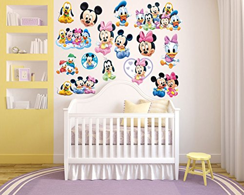 RaeSponsive Mickey Mouse Clubhouse and Minnie Mouse Wall Room Decor Decal for Baby -