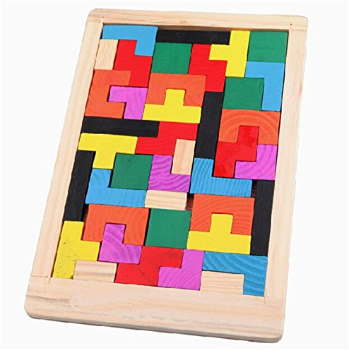 2015 New Kawaii Clever Puzzle Cute Children Toys Wooden Tangram Brain Teaser Jigsaw Board