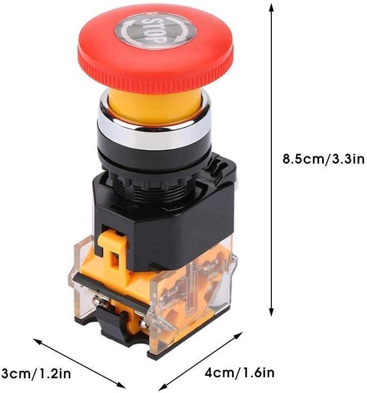 Interruttore della Luce del Freno di qualit/à Interruttore della Luce di Arresto del Freno Universale 12V normalmente Aperto Tirare per Fare DEWIN Interruttore della Luce di Arresto del Freno