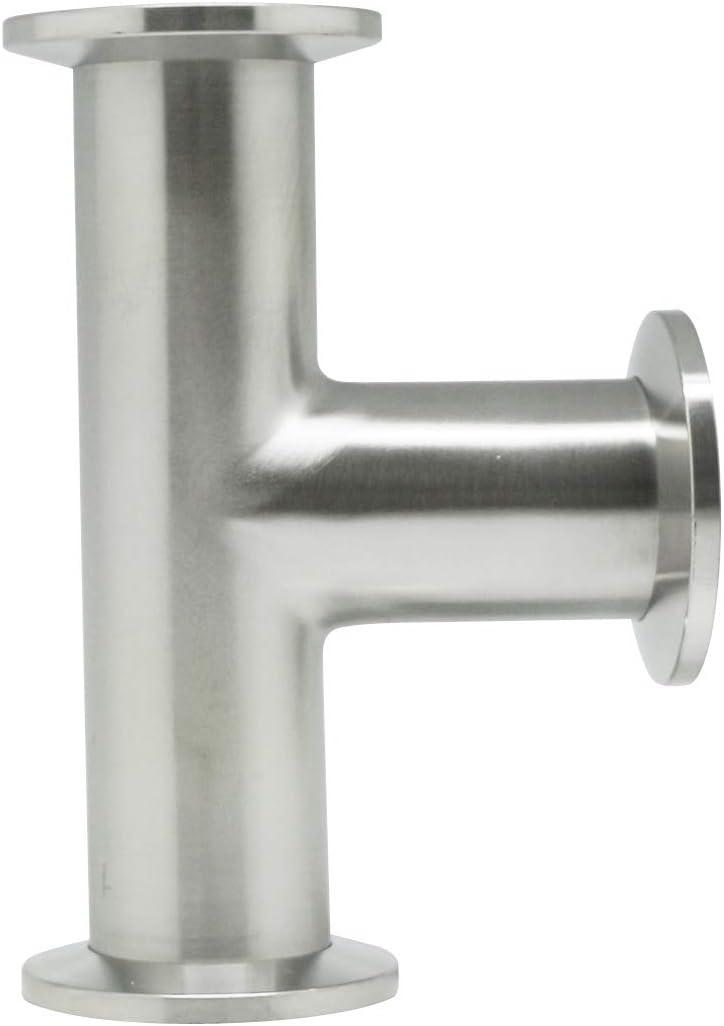 Vacuum Fittings - KF-25 Tri Clamp Tee 3 Way Stainless Steel SS304