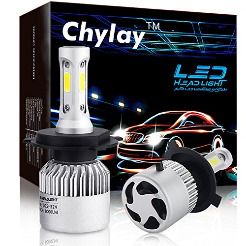 H4 LED headlight bulbs 9003 HB2 COB chips Fog Light Conversion Kit Hi/Low beam 72W 8000LM white 6500K Auto front bulb car Headlamp -2 Yr Warranty