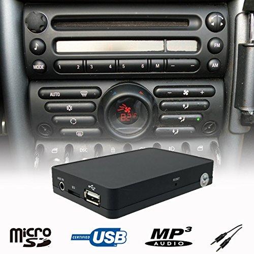 Stereo USB SD AUX CD Wechsler Adapter Interface Fahrzeug Mini Cooper R50 R52 R53 Boost Radio LaPower 1500-BMF1