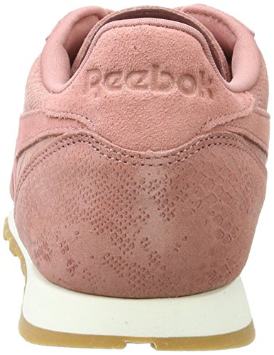 Exotics Rose gum sandy Clean Reebok Basses Classic Baskets Femme Rose Leather chalk twzqPAw