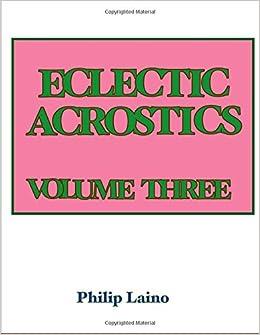 Book Eclectic Acrostics (Volume 3)