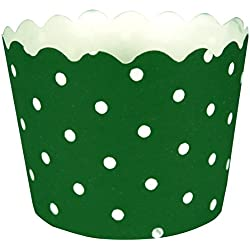Creative Converting 12 Count Polka Dot Baking Cups, Emerald Green