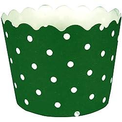 Creative Converting 12 Count Polka Dot Baking Cups, Emerald Green