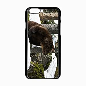 iPhone 6 Black Hardshell Case 4.7inch eurasian snow grass moss winter Desin Images Protector Back Cover