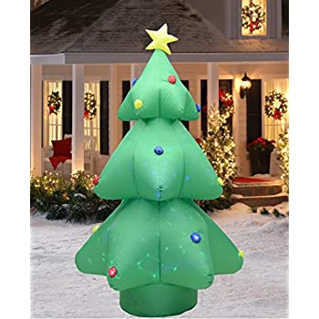 fashionlite 8 feet christmas xmas inflatable tree flashing colorful lighted blow up yard party decoration - Blow Up Christmas Tree