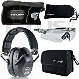 TITUS Top Combos: Safety Earmuffs & Glasses (Black - Slim, Z87.1 Clear All-Sport)