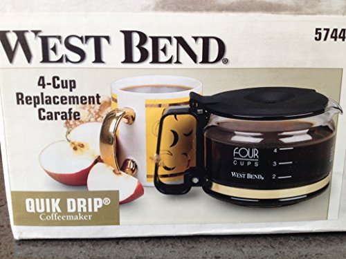 West Bend 4 cup replacement carafe for drip coffee maker (West Bend Coffee Maker)