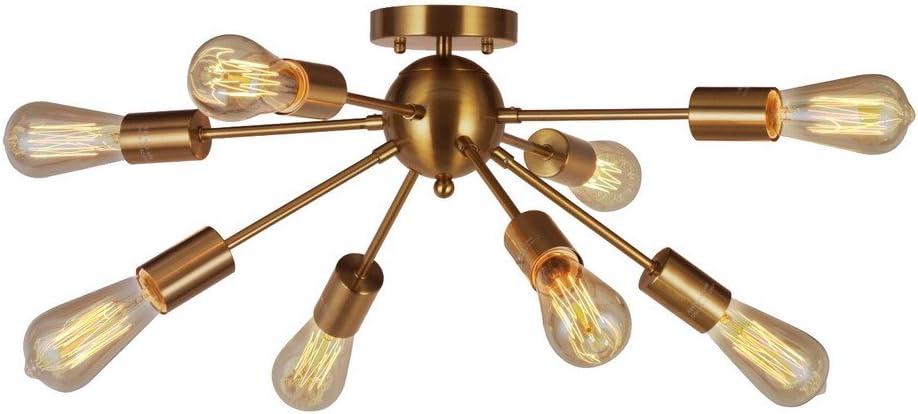 Shop 8-Light Sputnik Chandelier Brushed Brass from Amazon on Openhaus