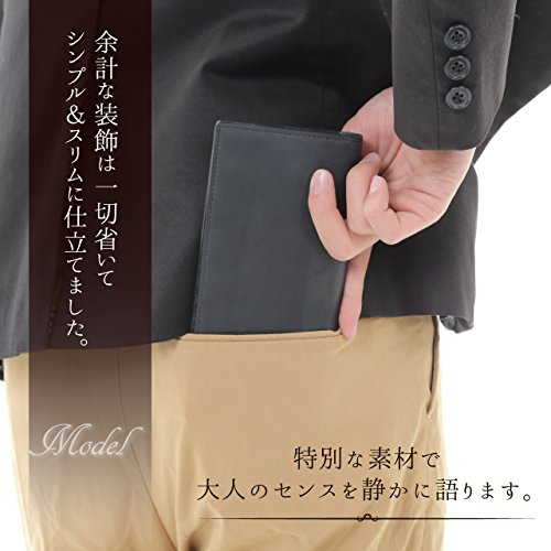 d069fbd53f6a スタージャポン 長財布 メンズ 【高級クレイジーホースレザー】 二つ折り 薄型 財布 育てる