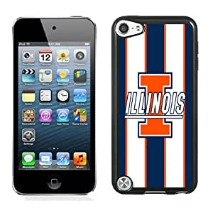 Fashionable And Unique Designed With Ncaa Big Ten Conference Football Illinois Fighting Illini 14 Protective Cell Phone Hardshell Cover Case For iPod 5 Phone Case Black