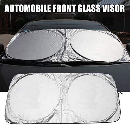 Zoloyo Car Windshield Sun Shade Auto Sunshade Visor Reflective UV Block Protection Sunshade Snow Sun Shade Blind Screen Cover for Windshield